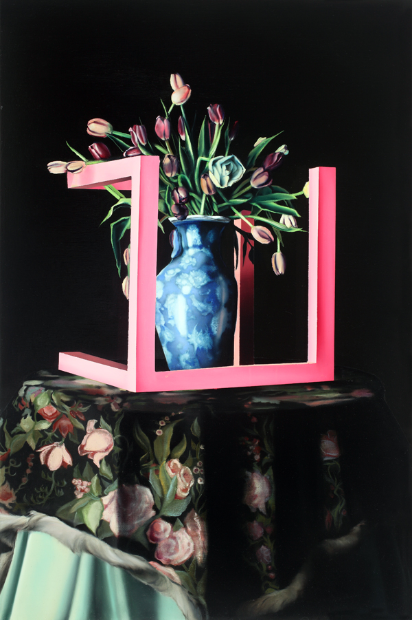 Incomplete Cube with Tulips (Jerry Maguire) by Justin Price